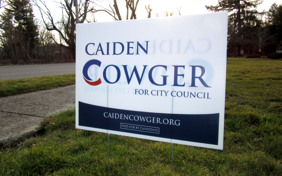 Cowger campaign signs
