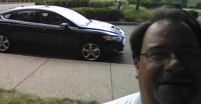 Mayor Rick Edwards with Car